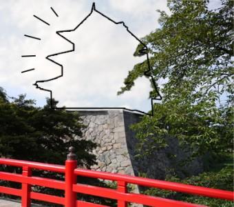 城が曳屋されたイメージ写真