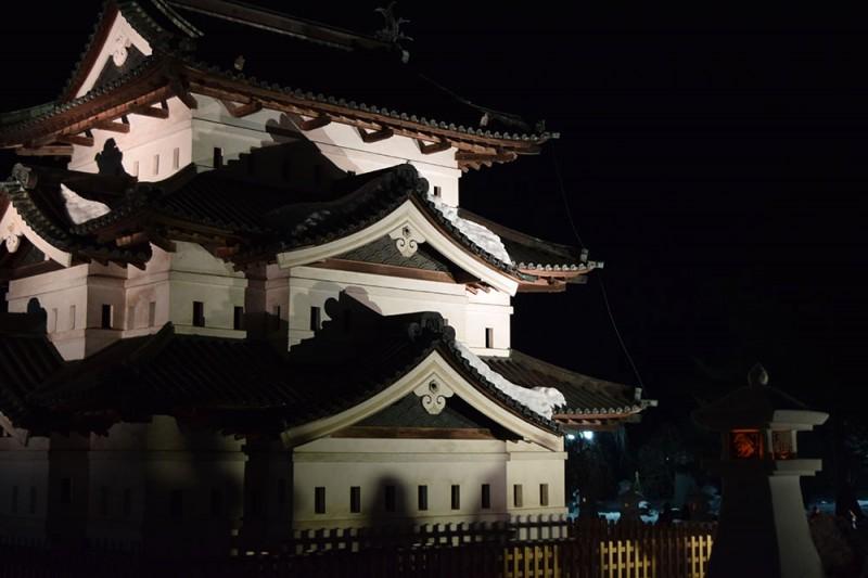 弘前公園 弘前城の様子