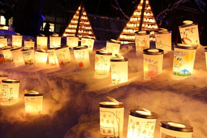 2016年2月11日~14日弘前城雪燈籠まつり開催