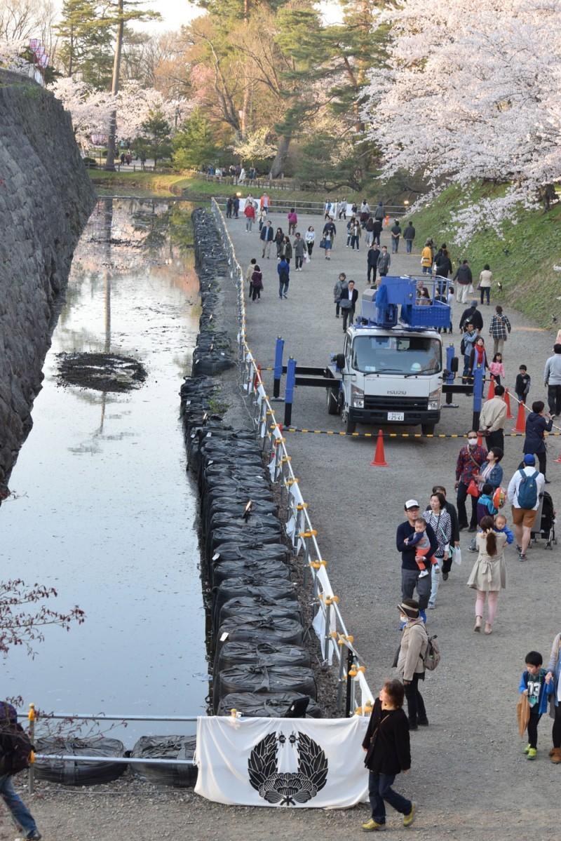 弘前公園 内濠解放