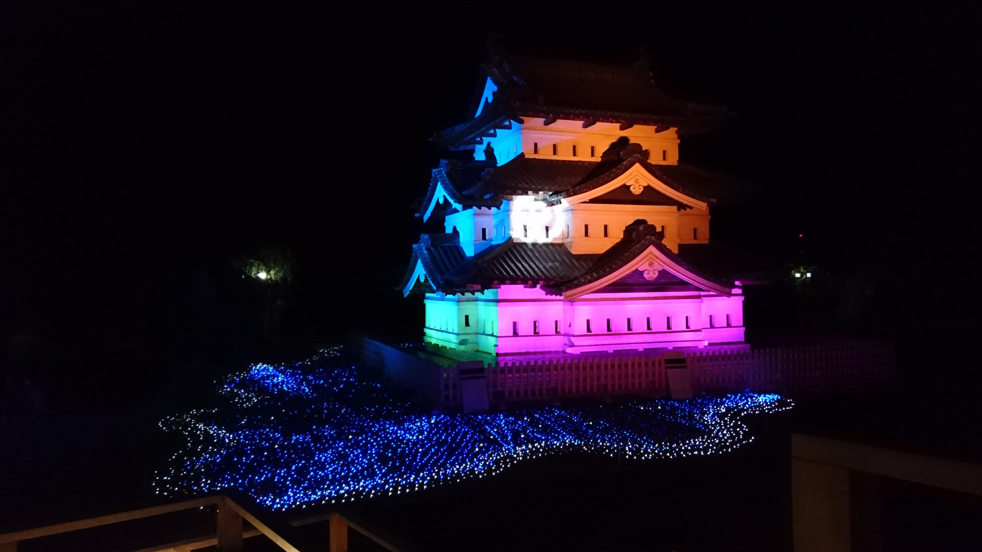 弘前城天守 特別ライトアップ