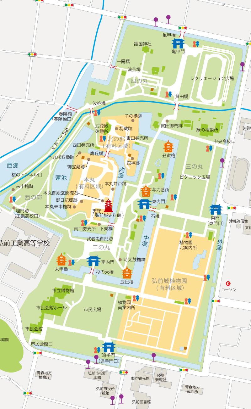 弘前公園地図