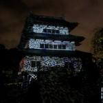 弘前城の「デジタル掛け軸 D-K LIVE~天空に描く鎮魂と未来~」