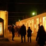 弘前城雪燈籠まつりイベントの様子