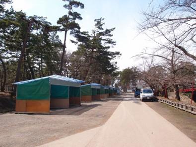 2013年4月12日(金)の弘前公園内の様子