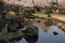 弘前城(弘前公園)「二の丸 丑寅櫓前の池山」