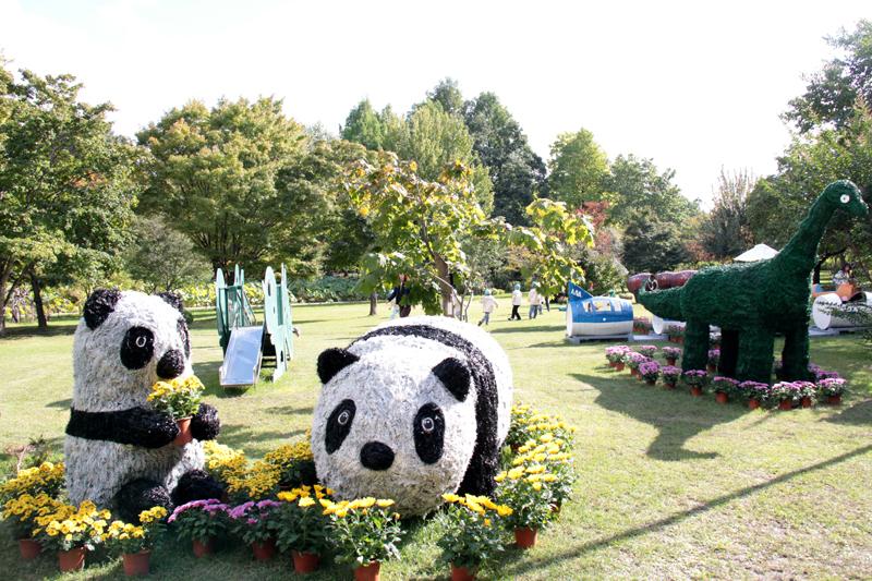 弘前城菊と紅葉まつりの子供が楽しめるコーナー