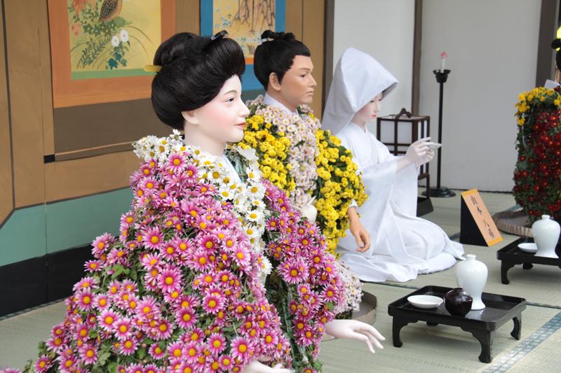 大河ドラマをモチーフにした菊人形