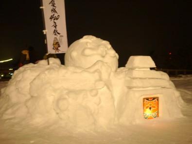雪灯籠まつり 雪像