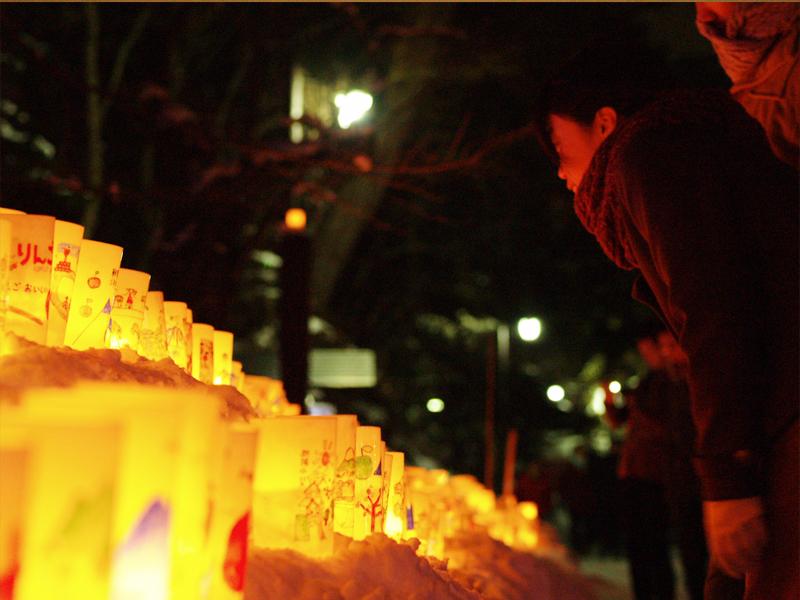 2014年弘前雪灯篭まつり開催! 手作りのランプ
