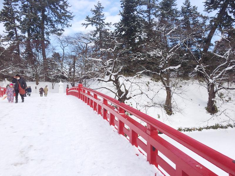 2014年弘前雪灯篭まつり 最終日昼 弘前公園の様子