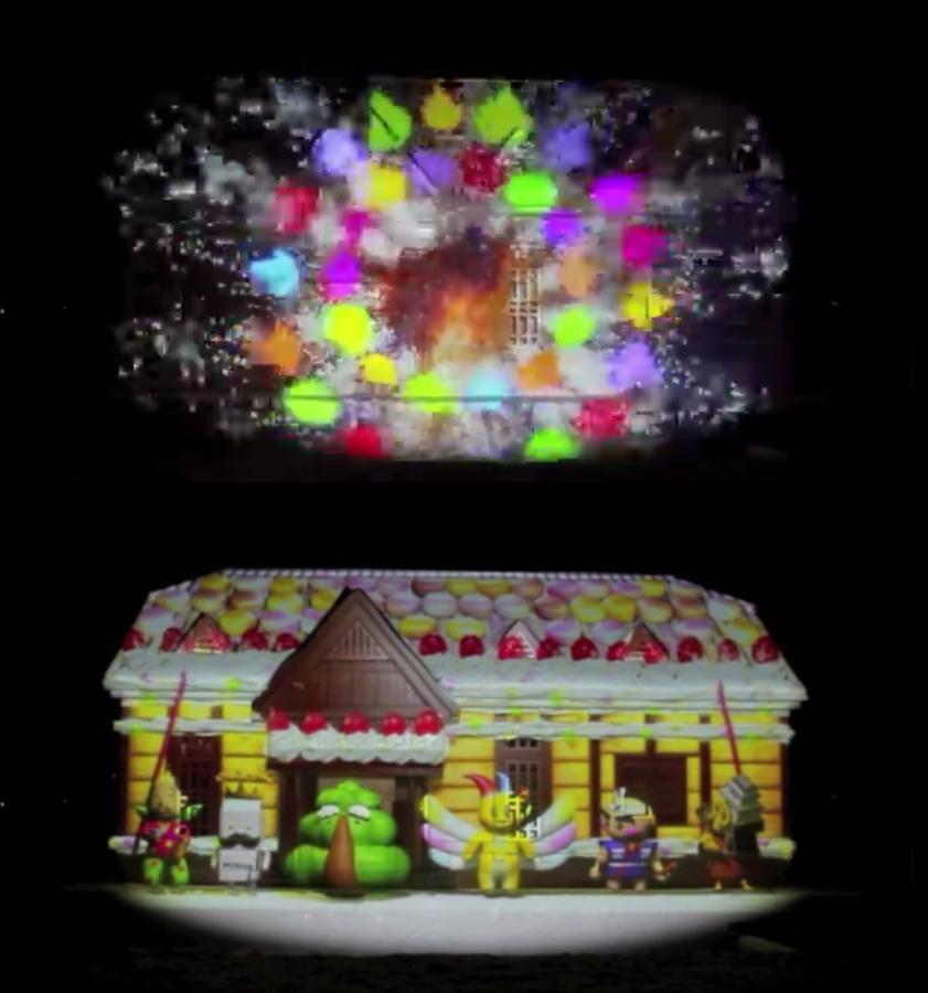 2014年弘前雪灯篭まつり プロジェクションマッピング正面から(動画でご紹介)