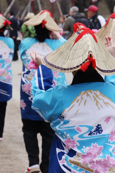 本日開幕した弘前さくらまつり2014 恒例の津軽どだればち(盆踊り唄)