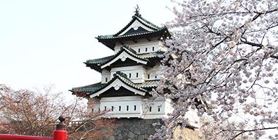 弘前城と下乗橋