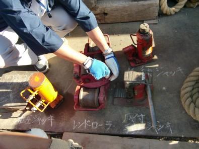 曳屋工事で実際に使用されている機具の紹介
