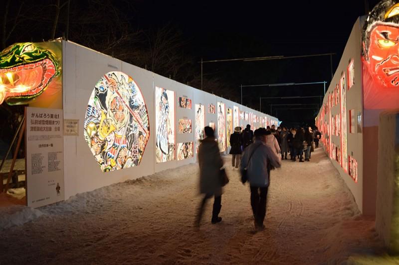 弘前公園雪燈籠まつり 津軽錦絵大回廊