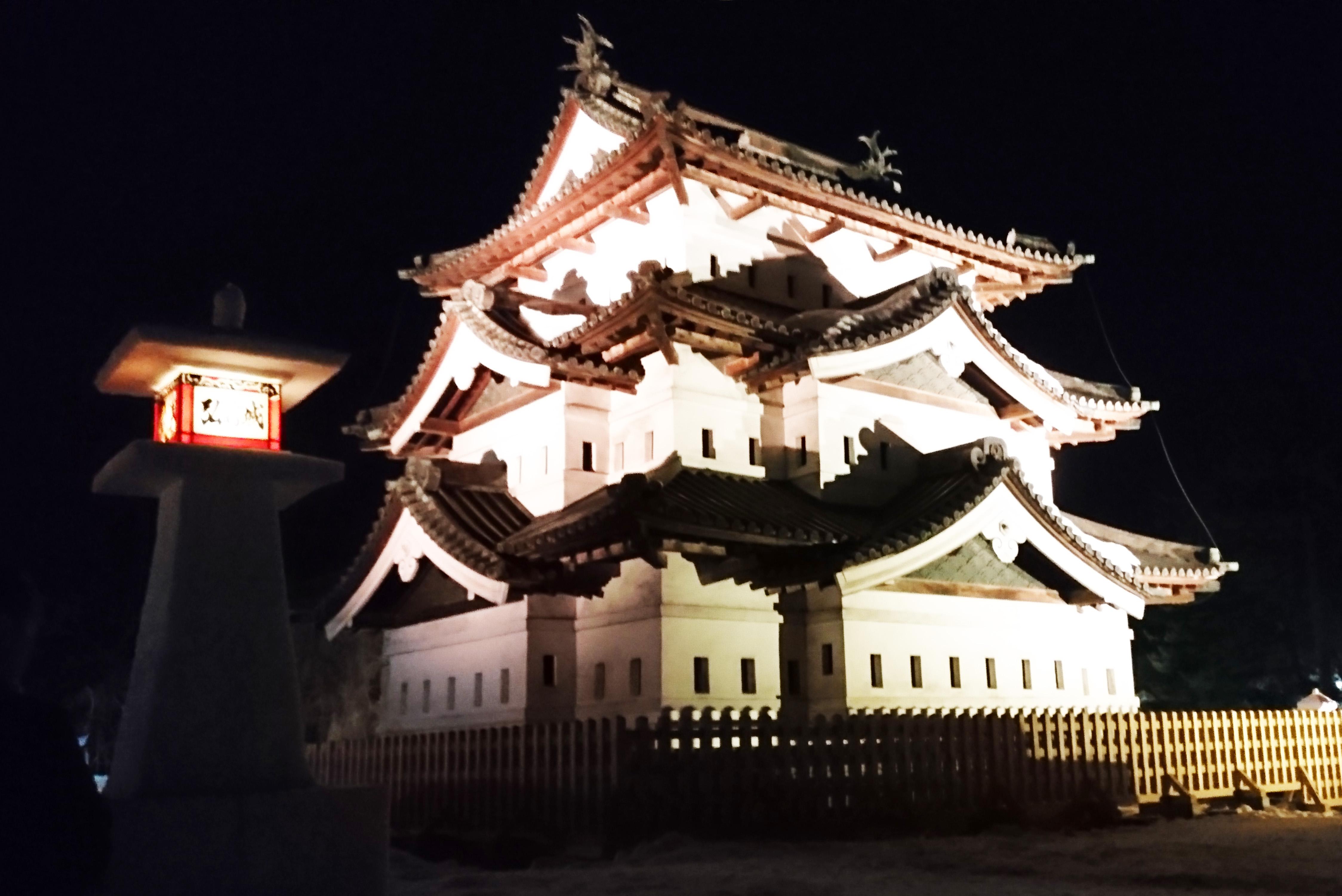2017年2月9日~12日弘前城雪燈籠まつり開催