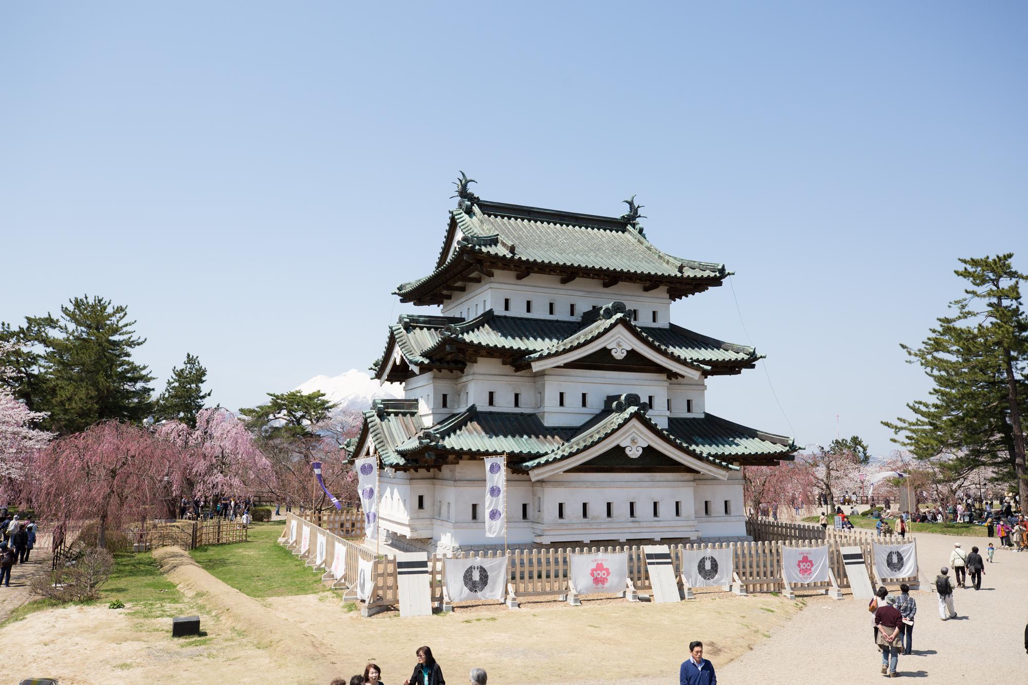 弘前さくらまつり2017 弘前城と桜