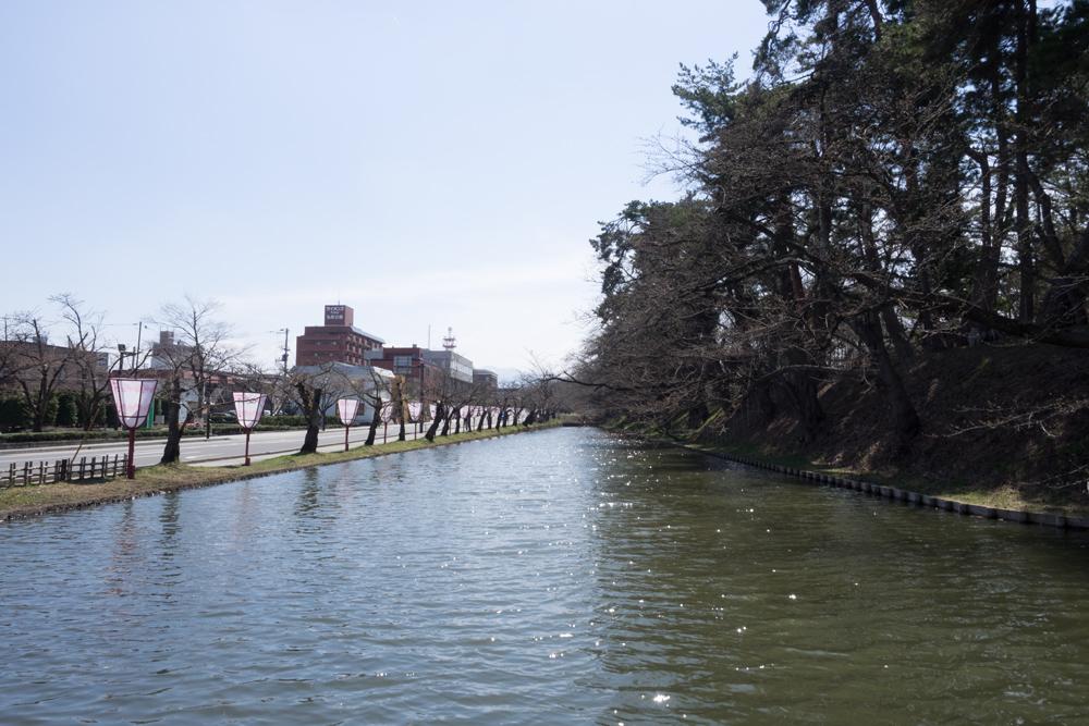 弘前公園 外堀の様子
