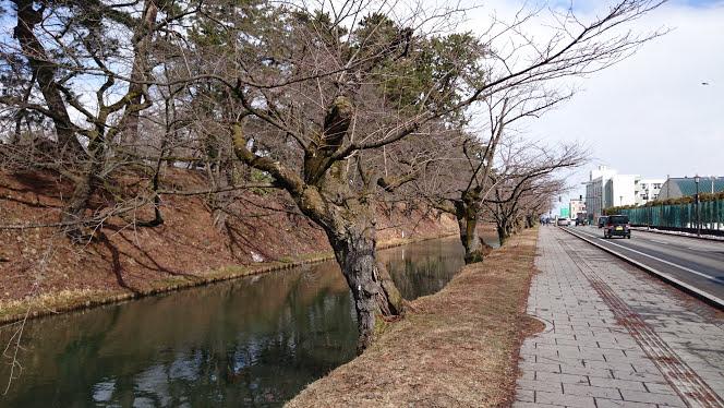 弘前公園 外濠(2018年3月16日 撮影)