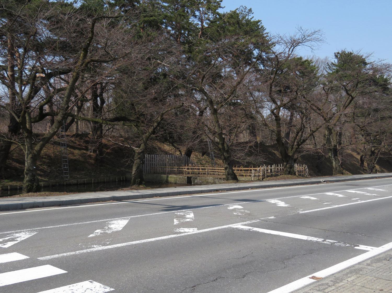 弘前公園 外濠(2018年3月26日 撮影)