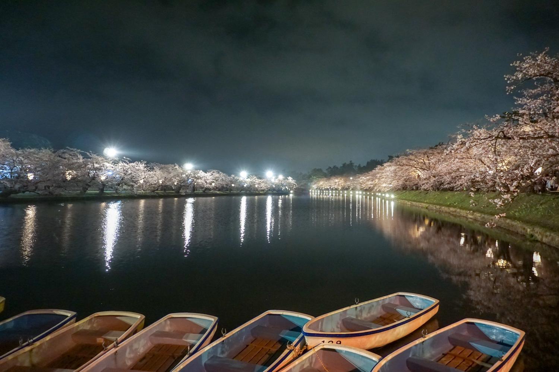 弘前公園 西濠ライトアップ