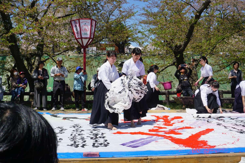 弘前公園 弘前観桜会記念日提灯行列