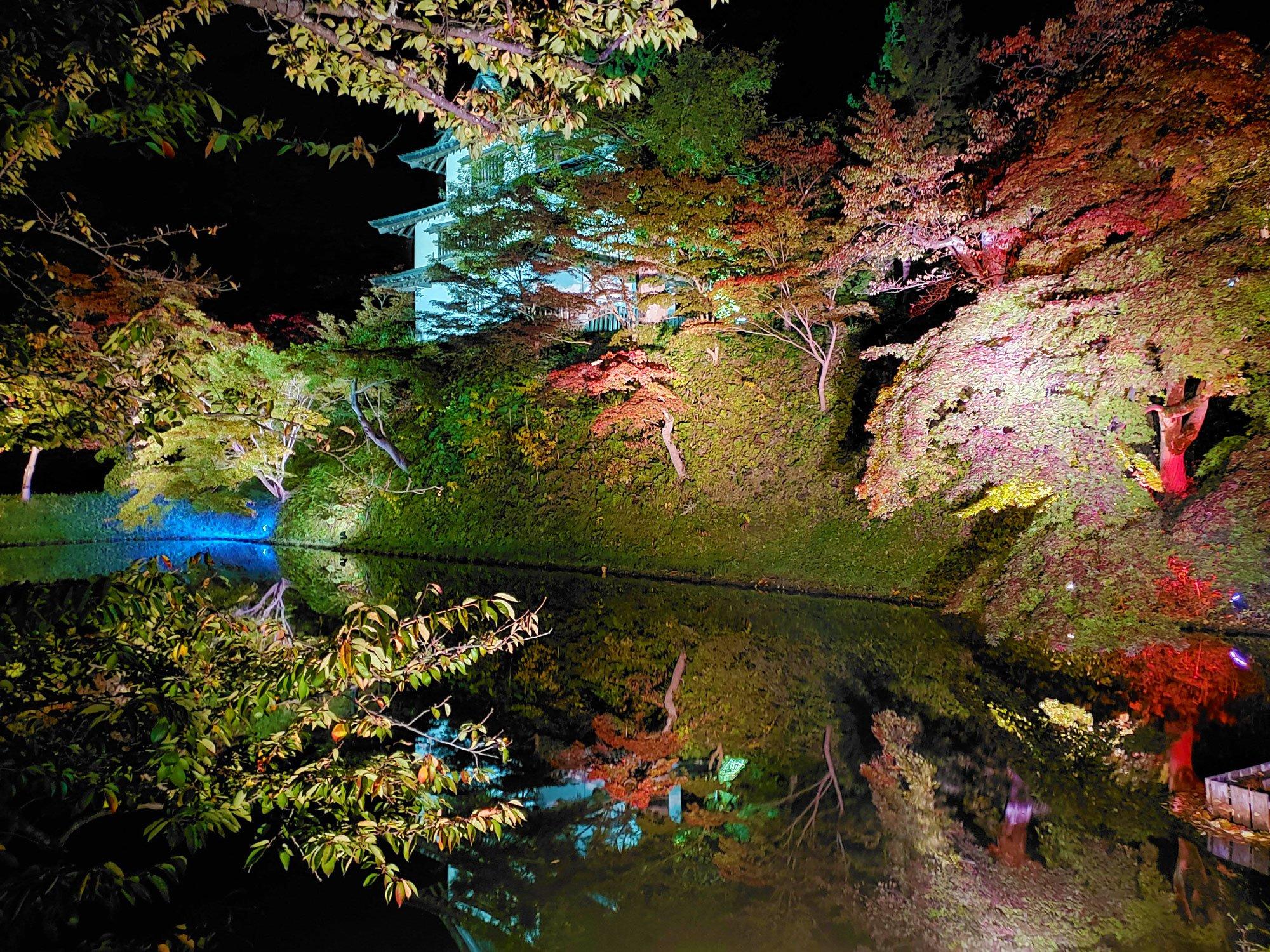 弘前公園 紅葉 ライトアップ